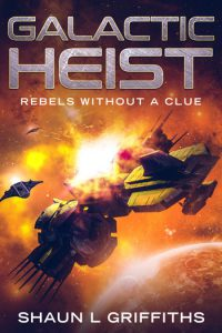 Rebels without a clue. Space opera book cover image.